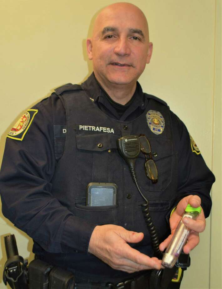All Winsted Police Officers carry Narcan to prevent overdose deaths Photo: Leslie Hutchison/Hearst Connecticut Media
