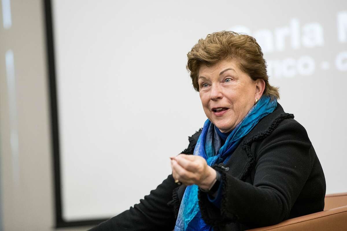California gubernatorial candidate Delaine Eastin, a former California State Superintendent of Public Instruction, answers questions while participating in the forum series �The Second Most Important Job in America