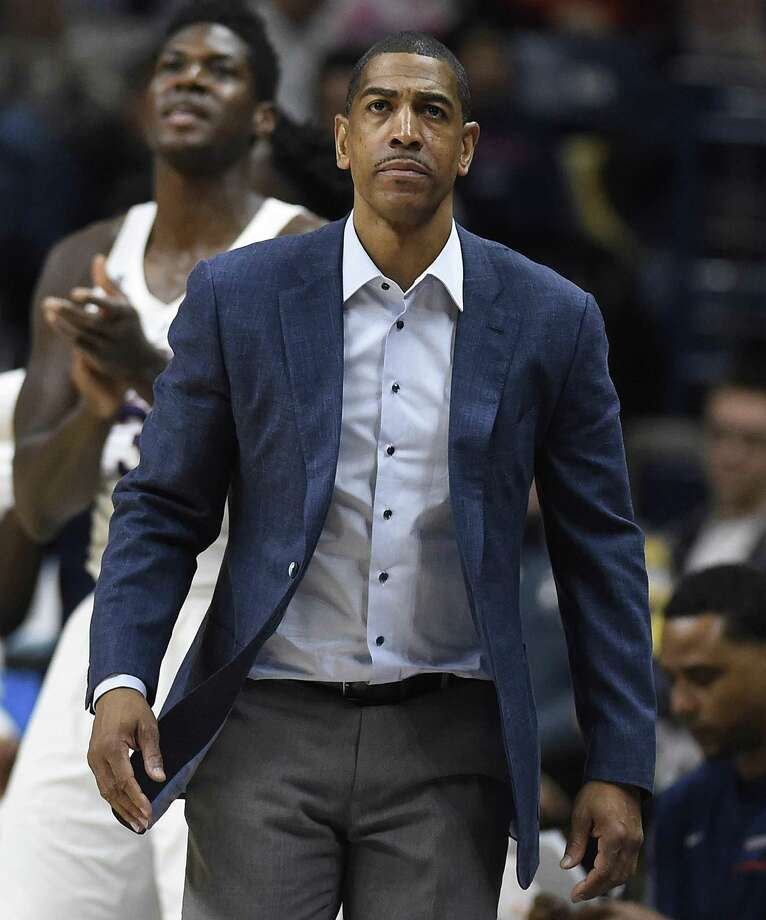 UConn coach Kevin Ollie watches play against SMU on Jan. 25. Photo: Jessica Hill / Associated Press / AP2018
