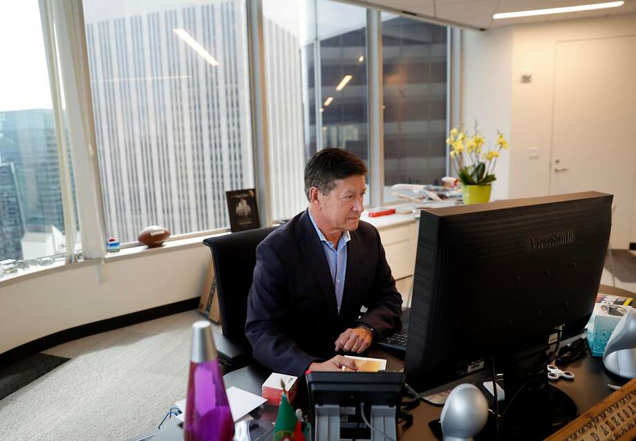 Joe D'Alessandro, President & CEO of the San Francisco Travel, in his office at the group's headquarters in San Francisco, Calif., on Wednesday, April 4, 2018. It's not just hotel owners who are getting the brunt of tourists' complaints about how disgusting San Francisco's streets have become. It's also S.F. Travel, the city's visitor bureau that's in charge of promoting the city and bringing conventions and conferences here. Increasingly, their clients are fed up and threatening to scratch SF off the convention circuit. Photo: Carlos Avila Gonzalez / The Chronicle