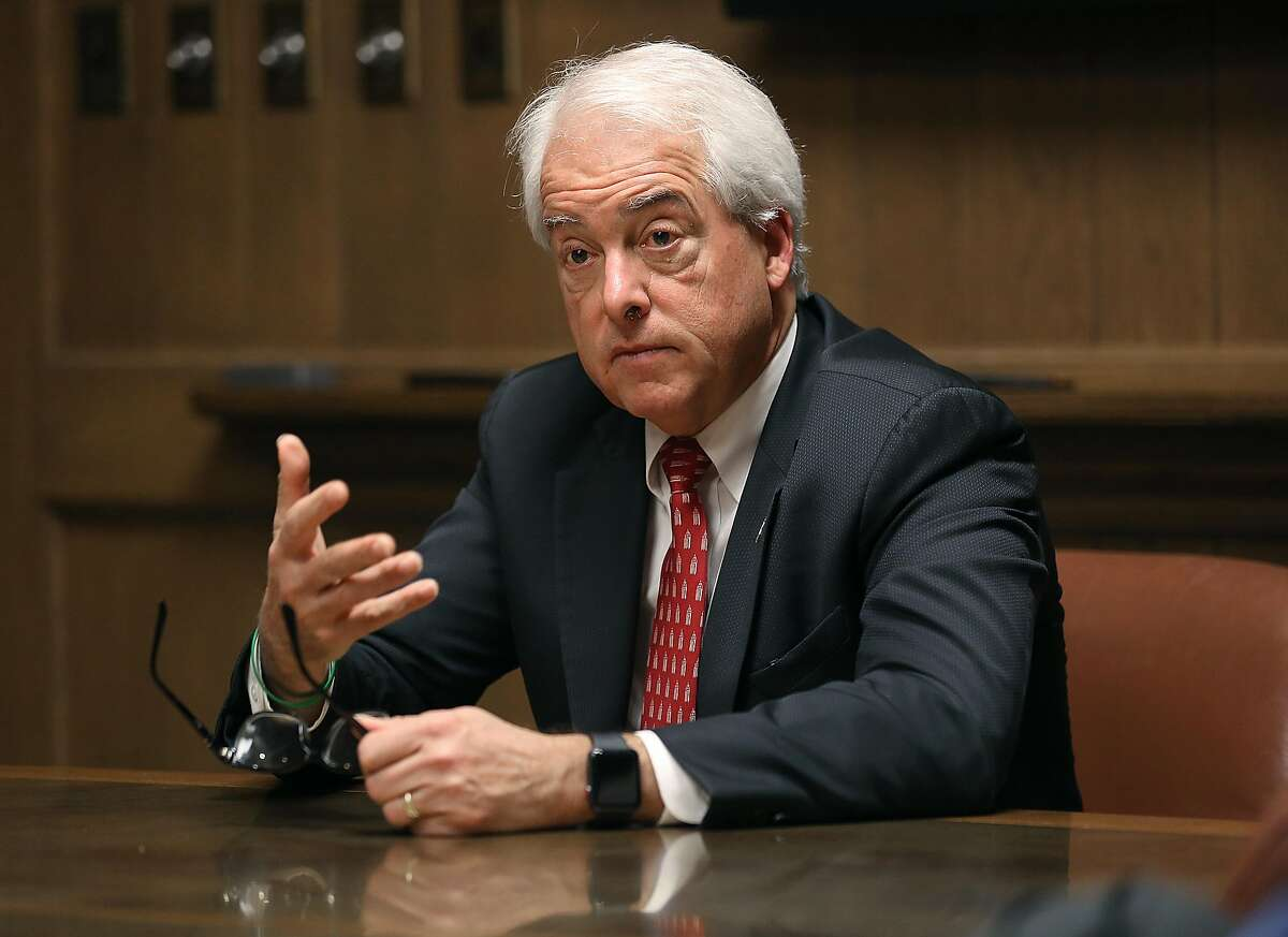 John Cox, candidate for CA Governor, speaks at the Chronicle on Monday, April 16. 2018, in San Francisco, Calif.