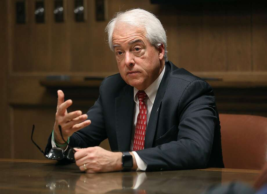 John Cox, candidate for CA Governor, speaks at the Chronicle on Monday, April 16. 2018, in San Francisco, Calif. Photo: Liz Hafalia / The Chronicle
