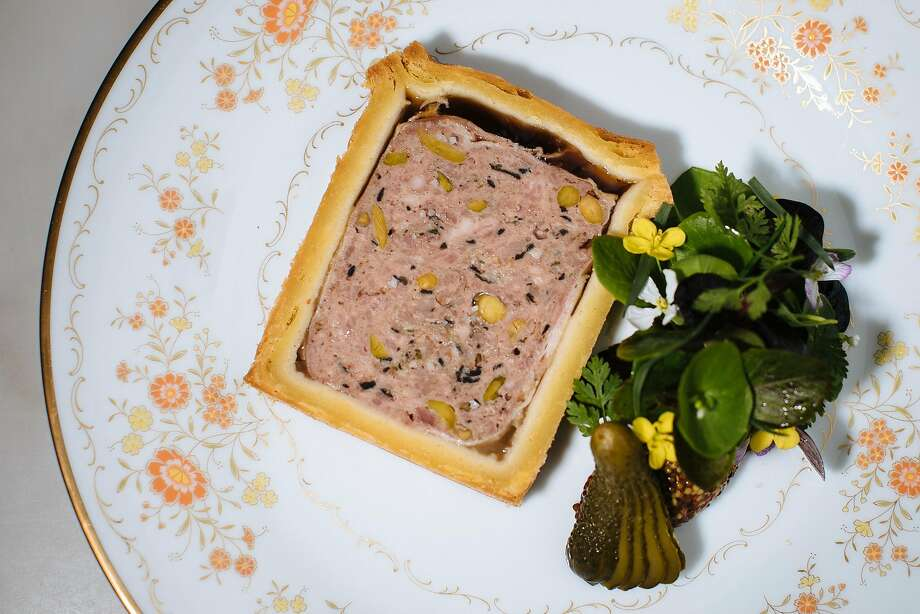 Pate en croute with a petite salad at Bar Crenn in S.F. Photo: Mason Trinca, Special To The Chronicle