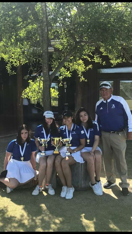 The St. Augustine girls' golf team placed third at the district meet Monday to advance to TAPPS Regionals. Photo: Courtesy Photo