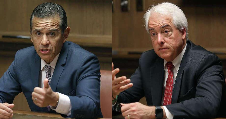Antonio Villaraigosa and John Cox.