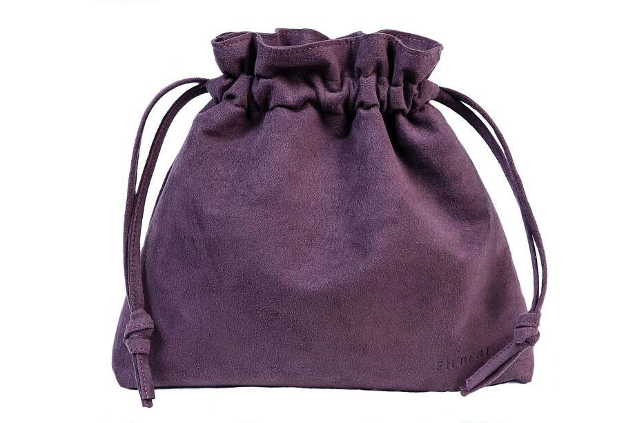 Filbert's vegan leather Lyon pouch in eggplant ($125). Photo: Filbert