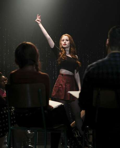 """Madelaine Petsch as Cheryl in """"Riverdale,"""" which has a musical episode Wednesday, April 18. Photo: Robert Falconer / The CW / © 2018 The CW Network, LLC. All rights reserved."""