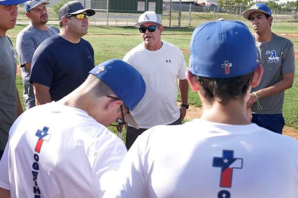 Mario Garcia, in his second season as St. Augustine's head baseball coach, hopes to make the Knights competitive in their district and with other teams in Laredo.