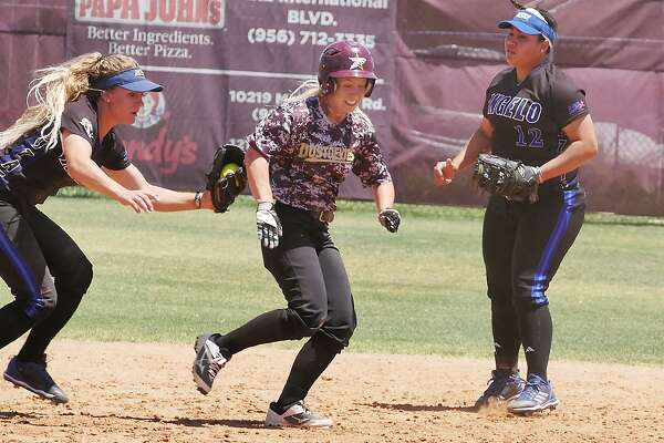Lindsey Smith hit a home run for the second time in three games Monday, but TAMIU dropped both games of its doubleheader with Angelo State losing 15-11 and 16-0.