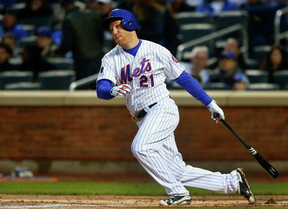 NEW YORK, NY - APRIL 16:  Todd Frazier #21 of the New York Mets follows through on a first inning RBI single against the Washington Nationals at Citi Field on April 16, 2018 in the Flushing neighborhood of the Queens borough of New York City.  (Photo by Jim McIsaac/Getty Images) Photo: Jim McIsaac / 2018 Getty Images