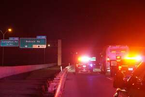 A motorcyclist was fatally struck in the 3900 block of the Northwest Loop 410 access road Monday, April 16, 2018.