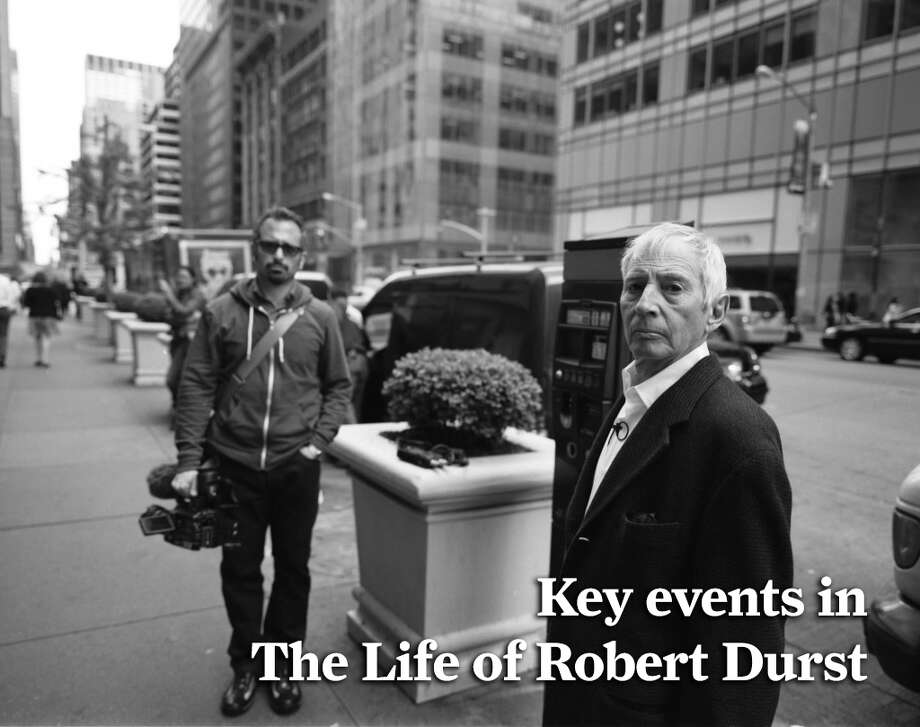 PHOTOS: Key events in the life of Robert Durst Robert Durst, a member of a wealthy New York real estate family was arrested in New Orleans on a murder warrant in his friend Susan Berman's 2000 death. See the critical moments in Durst's numerous legal cases.  Photo: HBO