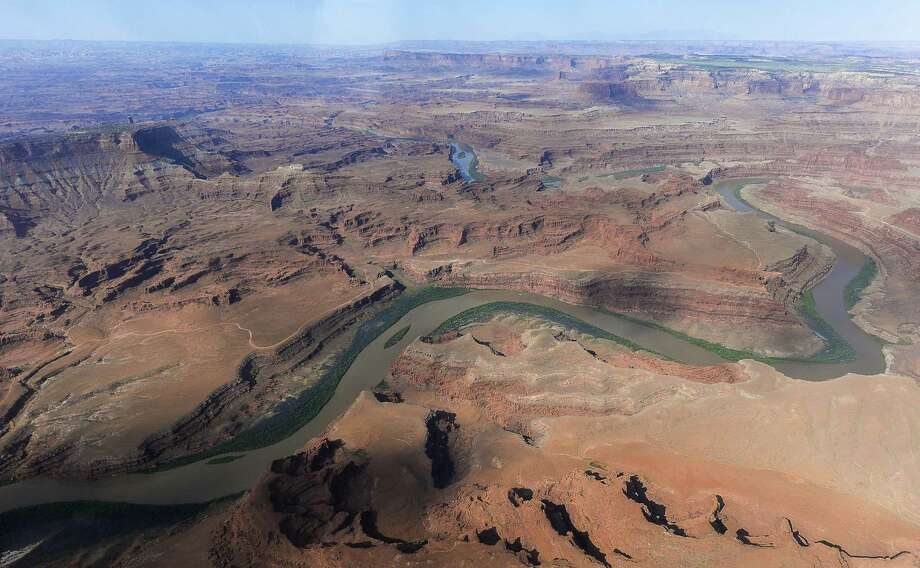 """FILE - This May 23, 2016, file photo, shows the northernmost boundary of the proposed Bears Ears region, along the Colorado River, in southeastern Utah. President Donald Trump signed an executive order Wednesday, April 26, 2017, directing his interior secretary to review the designation of dozens of national monuments on federal lands, as he singled out """"a massive federal land grab"""" by the Obama administration. Photo: Francisco Kjolseth, MBI / Associated Press / ONLINE_YES"""