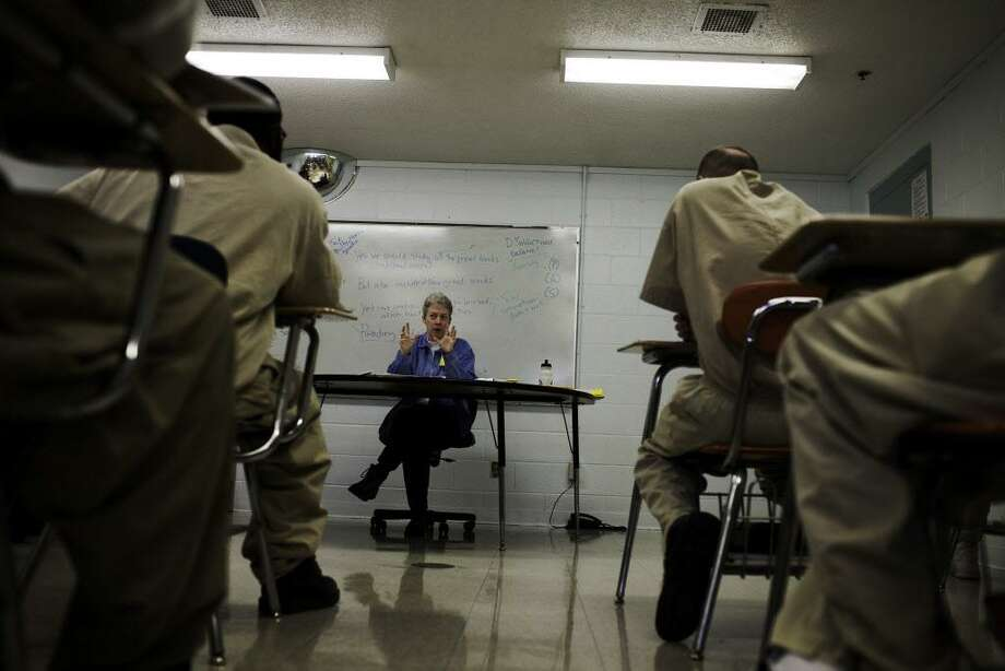 Inmates at Cheshire Correctional Institution take an English class offered by Wesleyan University. Photo: File Photo / NYTNS