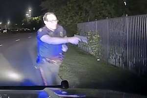 The Pasadena Police Department released dash cam and body cam videos of an April 16, 2018 incident in which a police officer shot at a suspect who allegedly pointed two pellet guns at the officer before fleeing.