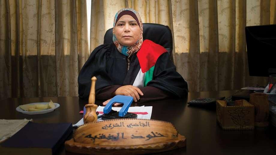 "Sharia court judge Kholoud Al-Faqih, the subject of Erika Cohn's ""The Judge,"" winner of the McBaine Bay Area Documentary Feature Award at the San Francisco Film Festival's Golden Gate Awards. Photo courtesy of SFFILM. Photo: SFFILM"