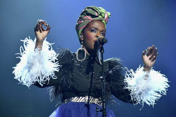 CLEVELAND, OH - APRIL 14: Recording artist Lauryn Hill pays tribute to Nina Simone during the 33rd Annual Rock & Roll Hall of Fame Induction Ceremony at Public Auditorium on April 14, 2018 in Cleveland, Ohio.