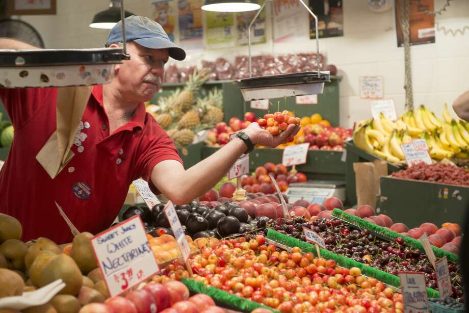 Weekly deliveries of fresh, local fruits and vegetables from Pike Place Market farmers are available through the market's 'Pike Box' program. Photo: Rick Friedman/Corbis Via Getty Images