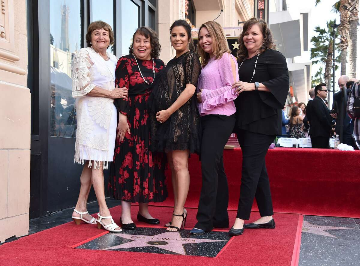 HOLLYWOOD, CA - APRIL 16: Ella Eva Mireles, Elizabeth Judina Longoria, Eva Longoria, Esmeralda Josephina Longoria and Emily Jeannette Longoria attend a ceremony honoring Eva Longoria with the 2,634th Star on the Hollywood Walk of Fame on April 16, 2018 in Hollywood, California. (Photo by Alberto E. Rodriguez/Getty Images)