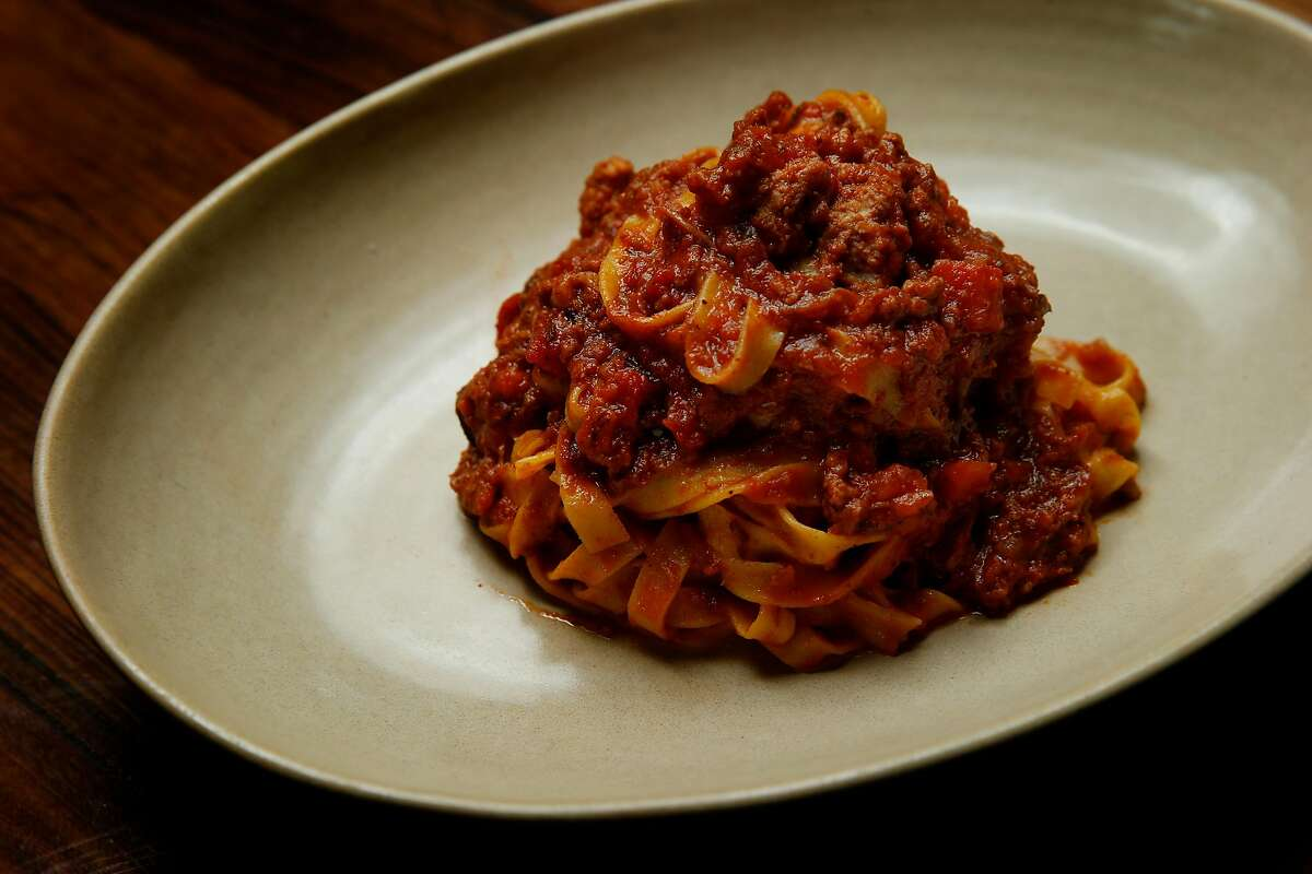 Tagliatelle Bolognese at Pasta Pop Up, Thursday, April 12, 2018, in San Francisco, Calif. The Italian restaurant is located at 550 Green Street.