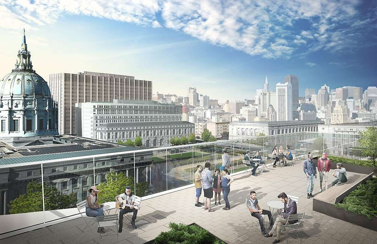 Rendering of the roof terrace at the Ute� and William K. Bowles Center for Performing Art