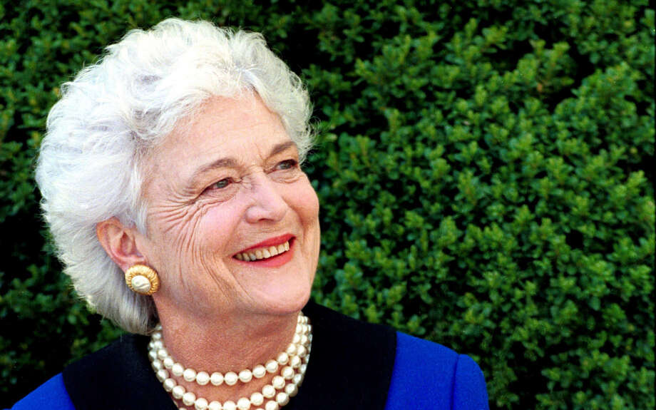 First Lady Barbara Bush, April 9, 1990. Photo Credit: George Bush Presidential Library