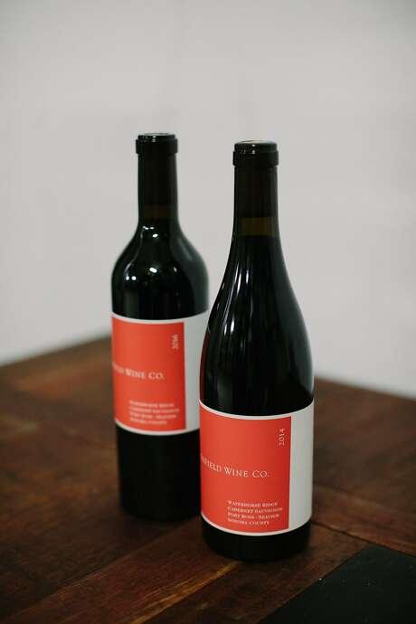 Waterhorse Ridge Vineyard's 2014 and 2016 cabernet sauvignon bottles photographed in Santa Rosa, Calif., Friday, March 23, 2018.