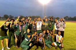 The Klein Forest boys and girls teams captured the District 15-6A titles, with 141 and 152 points, at the varsity track and field meet, Apr. 3-5, at Darrell Tully Stadium.