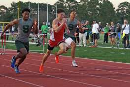 Tomball senior Brandon Peterson placed first (39.67) in the boys 300-meter hurdles at the UIL District 20-5A Track and Field meet, Apr. 4-5, at Brenham High School.