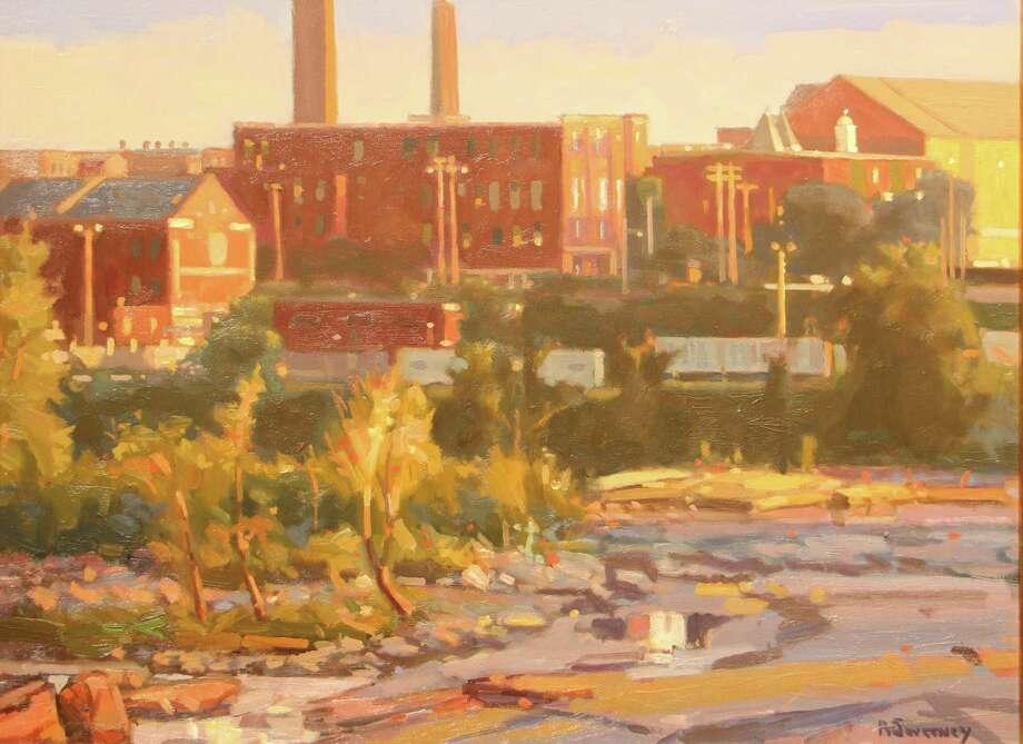 "The painting ""Holyoke Mills"" by Bob Sweeney. Photo: Contributed Photo/Bob Sweeney"