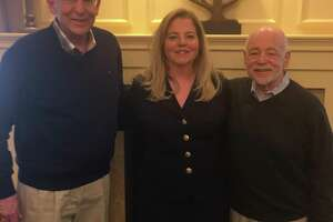 Left to Right: Michael Amoroso (Board President) welcomes Ann Luke (Retired Insurance Executive) and David Rauch (Marketing & Research Consultant) to the USE Board, April 2018.