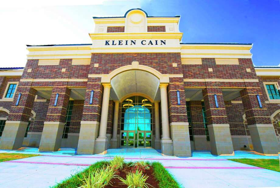 Cain High School Klein isd 10201 Spring Cypress Rd, Spring, Tx Caption Photos of the exterior view of the high school. . Photo: Tony Gaines, Photographer