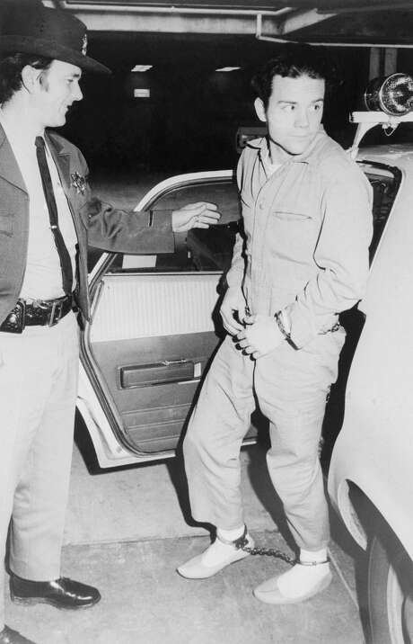 Herbert Mullin after being arrested for a string of murders in Santa Cruz. Photo: Bettmann/Bettmann Archive