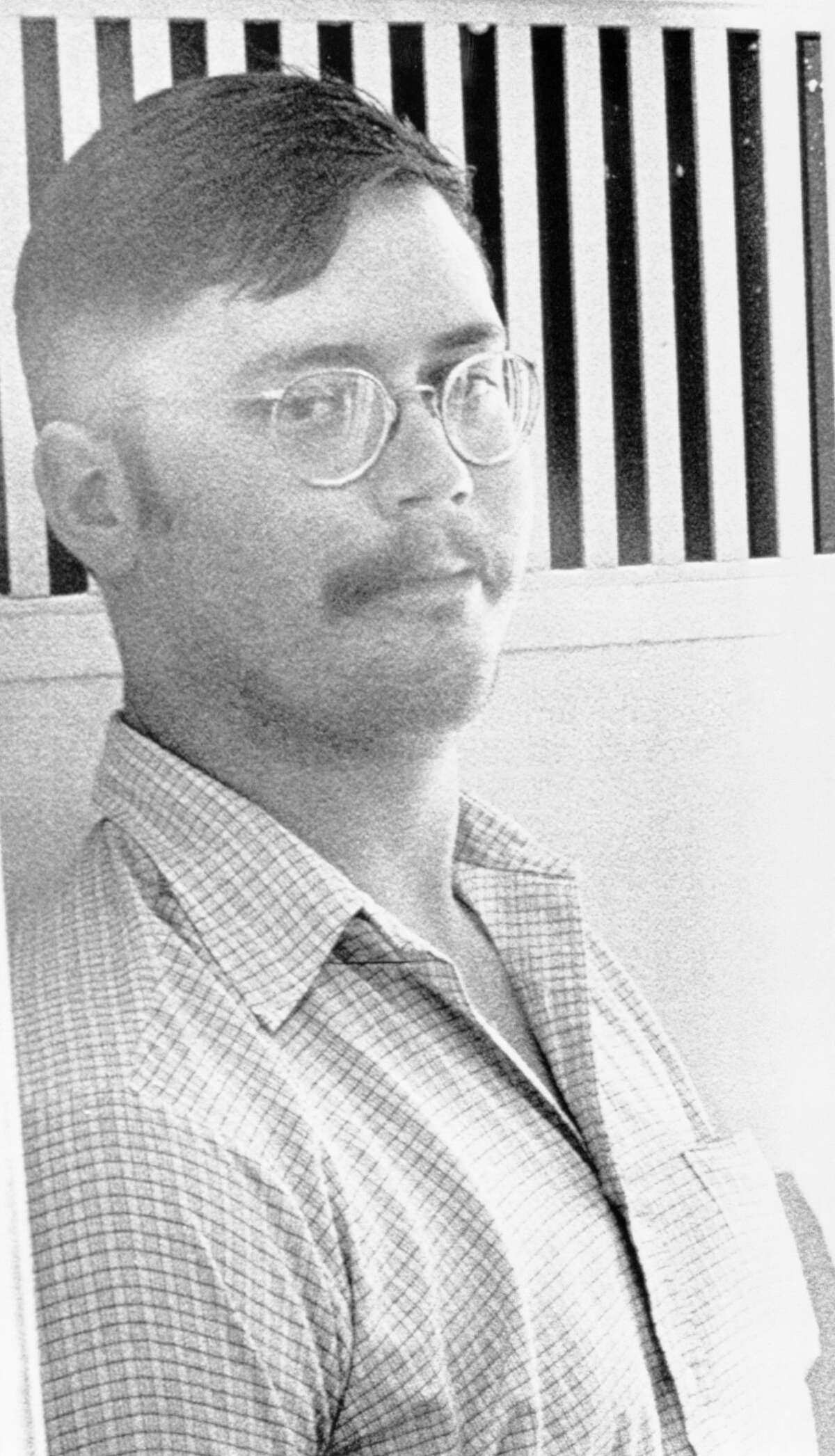 Edmund Kemper, III, 24, of Aptos, after being apprehended by Colorado police for the murders of 10 women in Northern California.