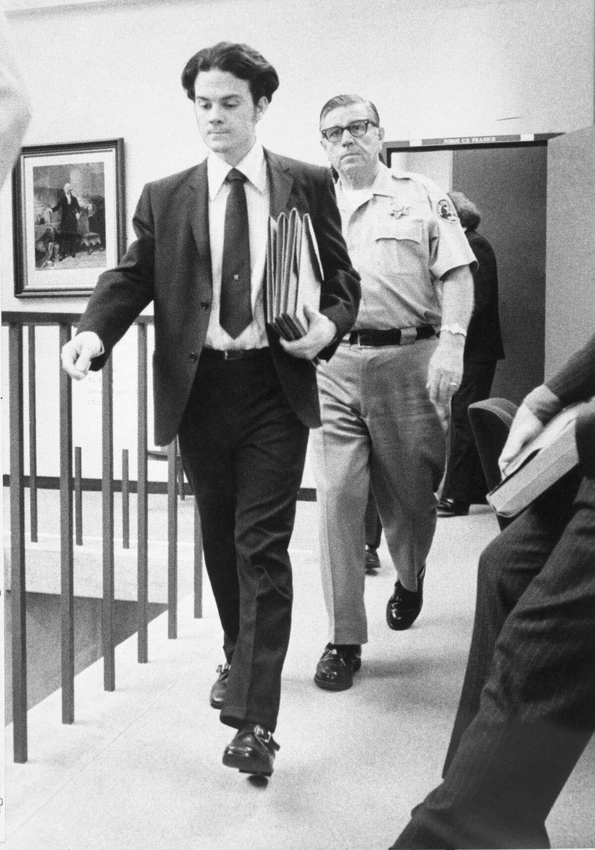 Serial killer Herbert Mullin arrives in court.