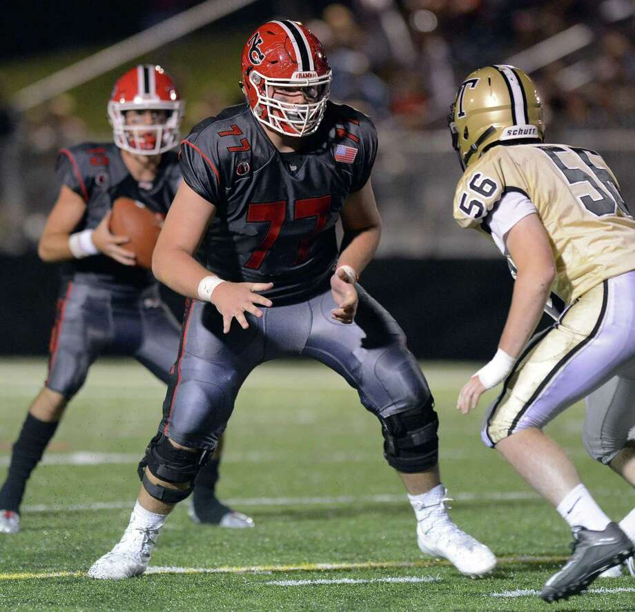 New Canaan defeated Trumbull 61-14 in a FCIAC varsity football game in New Canaan, Connecticut on Friday, Sept. 22, 2017. Photo: Matthew Brown / Hearst Connecticut Media / Stamford Advocate