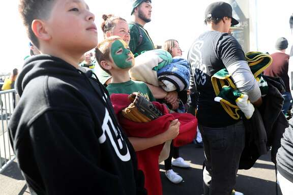 Oakland Athletics' Forest Ashby of Lakeport is celebrating his 10th birthday by getting into the A's game against the Chicago White Sox for free at Oakland Coliseum in Oakland, Calif., on Tuesday, April 17, 2018.