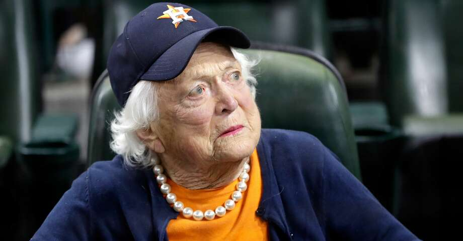 HOUSTON, TX - OCTOBER 29: Former first lady Barbara Bush looks on before game five of the 2017 World Series between the Houston Astros and the Los Angeles Dodgers at Minute Maid Park on October 29, 2017 in Houston, Texas.  (Photo by David J. Phillip - Pool/Getty Images) Photo: Pool/Getty Images
