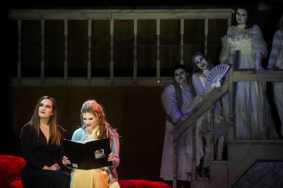 "Midland High students act out a scene during a dress rehearsal for their production of ""The Addams Family"" on Tuesday, April 17, 2018 at Central Auditorium. The show will run at 7 p.m. Thursday through Saturday. Tickets cost $12 for adults and $8 for students and are available at the door. Photo: (Katy Kildee/kkildee@mdn.net)"