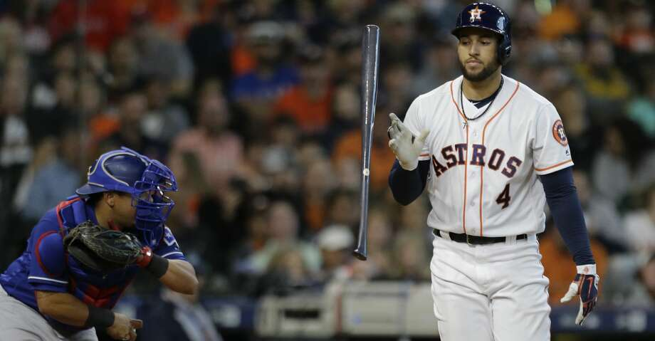 PHOTOS: Astros game-by-game Houston Astros George Springer flips his bat after being called out on strikes against the Texas Rangers during the seventh inning of game at Minute Maid Park Saturday, April 14, 2018, in Houston. ( Melissa Phillip / Houston Chronicle ) Browse through the photos to see how the Astros have fared through each game this season. Photo: Melissa Phillip/Houston Chronicle