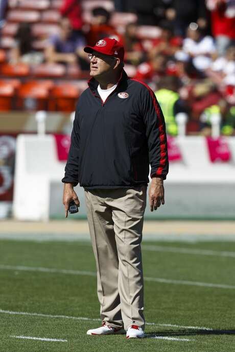 SAN FRANCISCO, CA - OCTOBER 14: Special teams coordinator Brad Seely of the San Francisco 49ers on the field before the game against the New York Giants at Candlestick Park on October 14, 2012 in San Francisco, California. The New York Giants defeated the San Francisco 49ers 26-3. Photo by Jason O. Watson/Getty Images) Photo: Jason O. Watson/Getty Images