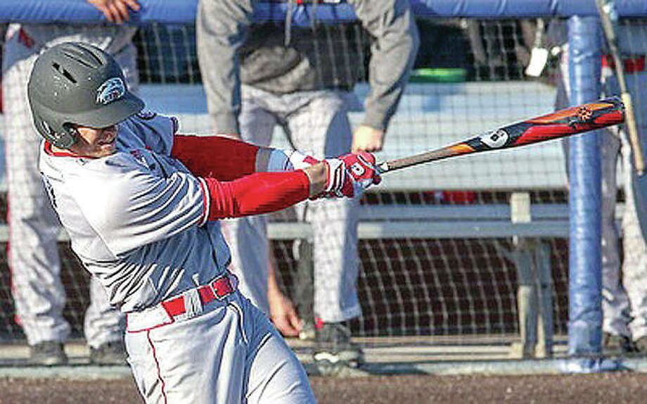 SIUE's Brock Weimer had a double and an RBI in Tuesday's victory 7-2 over Illinois State University in Normal. Photo:       SIUE Athletics