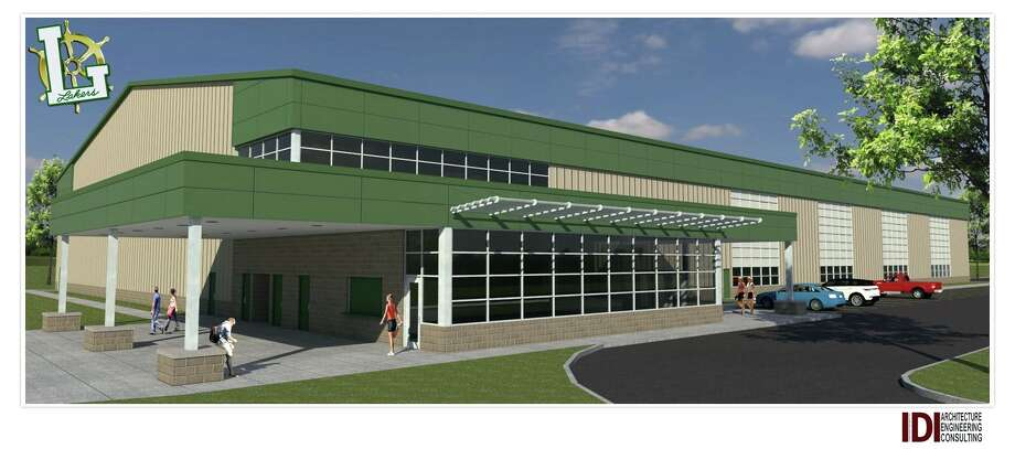 This conceptual illustration shows what the new field house at EPBP could look like. If the bond proposal passes, the field house, which could go by the name of the Laker Legacy Center, would be completed by 2020.  Photo: Supplied Photo