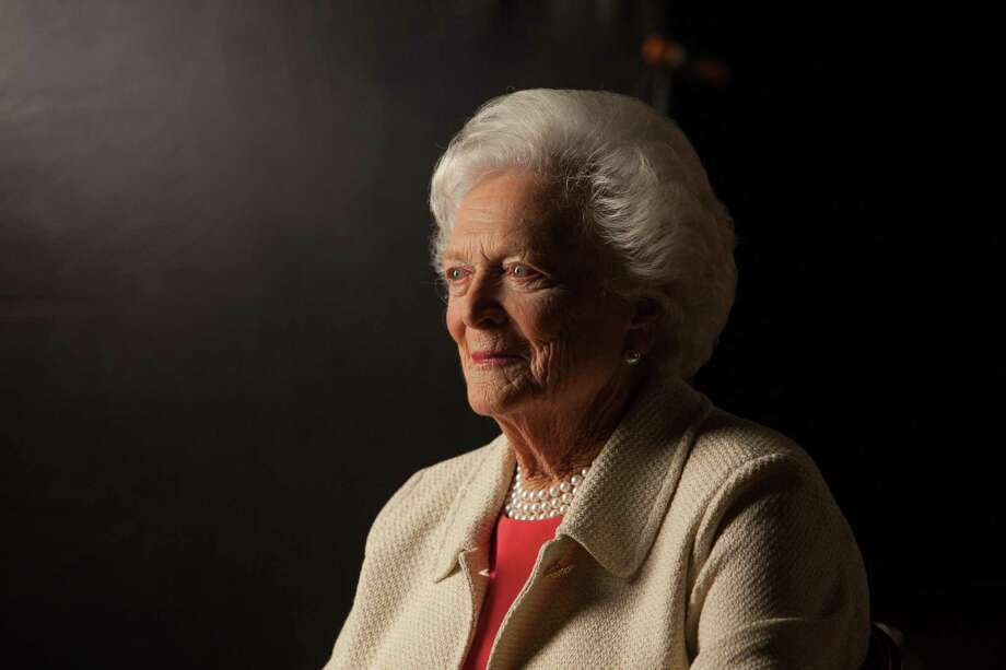 Former First Lady Barbara Bush is interviewed for 'The Presidents' Gatekeepers' project about the White House Chiefs of Staff at the Bush Library, October 24, 2011 in College Station, Texas. Photo: David Hume Kennerly / Getty Images / 2015 David Hume Kennerly