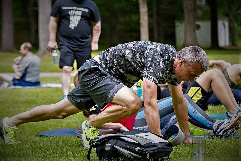 """Harrybrooke Park in New Milford will for the second year, on May 27, 2018, play host to a special event, """"Who are You Carrying?"""" The event, in which participants do a workout of the day, honors fallen heroes. Photo: Courtesy Of Lydia Patry / The News-Times Contributed"""