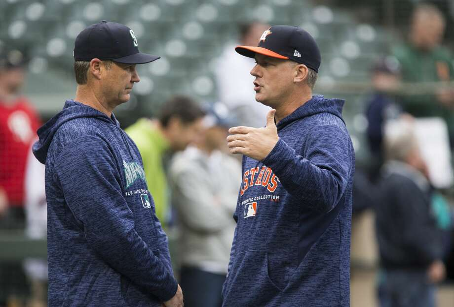 Mariners manager Scott Servais' club is a lot different entering this week's series against A.J. Hinch's Astros than when the clubs squared off in mid-April in Seattle. Photo: Lindsey Wasson/Getty Images