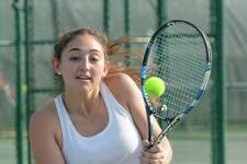The GFA Girls Tennis Varsity tennis team hosted Millbrook on Friday. Pictured is Devon Wolfe, a resident of Darien.