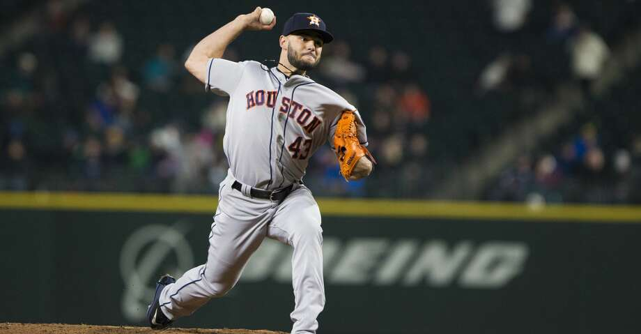 SEATTLE, WA - APRIL 17:  Lance McCullers Jr. #43 of the Houston Astros delivers against the Seattle Mariners in the fourth inning at Safeco Field on April 17, 2018 in Seattle, Washington. (Photo by Lindsey Wasson/Getty Images) Photo: Lindsey Wasson/Getty Images