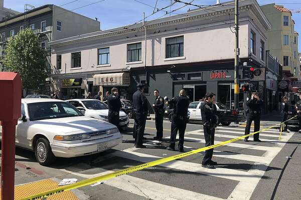 A San Francisco police detective was hit by an 18-year-old driver Tuesday who fled the scene of the accident, authorities said.