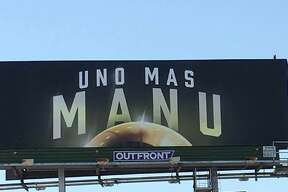 George Salinas, a local injury attorney, has the billboard near Interstate 35 and New Braunfels Ave under contract for his firm. With media reports swirling about Kawhi Leonard's questionable absence and the Spurs' future, Salinas wanted to step in and remind fans of Ginobili's contributions to the team and community before it's too late.